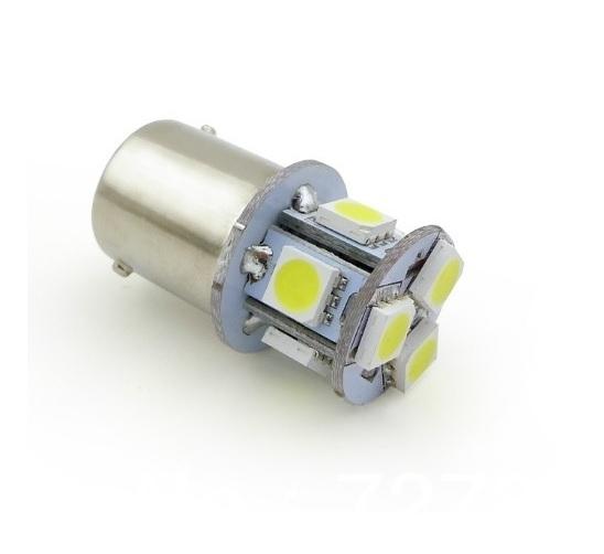 BAY15D LED 8-SMD 5050 lamp 12v wit - ABC-led.nl
