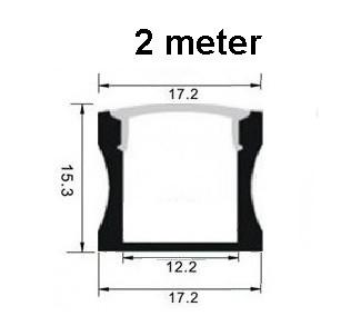 Led profiel 2 meter 15mm hoog led strip profielen for Bureau 2 meter