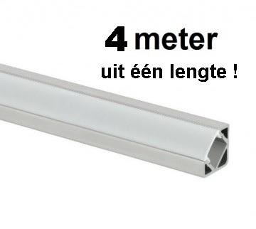 LED Profiel 4 meter - 45 graden - Aluminium profiel - HOEK - ABC-led.nl