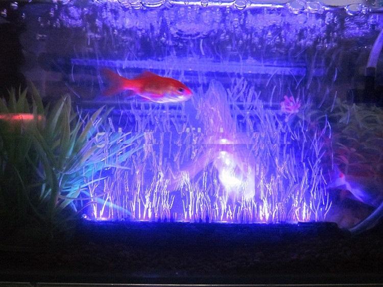 48cm RGB lucht aquarium lamp + dag/nacht RGB controller - LED ...