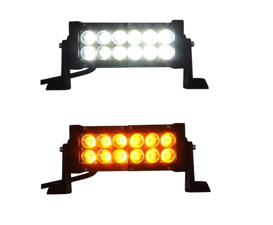LED bar - DUO color - 36W - 20cm - 4x4 offroad - 12 LED - ORANJE ...