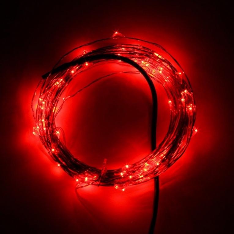 5 meter rood led verlichting 12 volt ultra dun. Black Bedroom Furniture Sets. Home Design Ideas