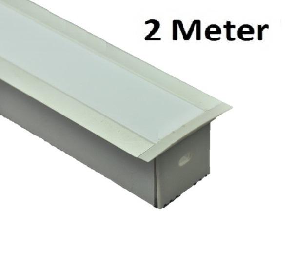 Led profiel 2 meter 35mm inbouw xl aluminium profiel for Bureau 2 meter
