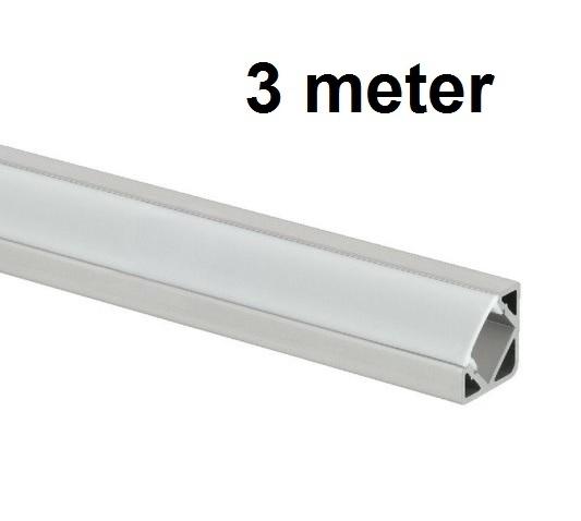 Led profiel 3 meter 45 graden aluminium profiel hoek for Spiegel 2 meter