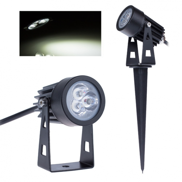 LED tuinverlichting - 3W - grond spot 12V - Koud Wit - dimbaar - ABC ...