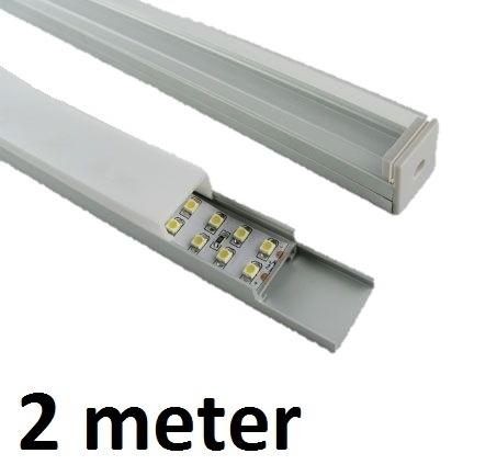Led profiel 2 meter square 7mm aluminium profiel for Bureau 2 meter