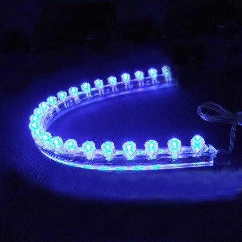24 led strip flexibele verlichting voor aquarium blauw. Black Bedroom Furniture Sets. Home Design Ideas
