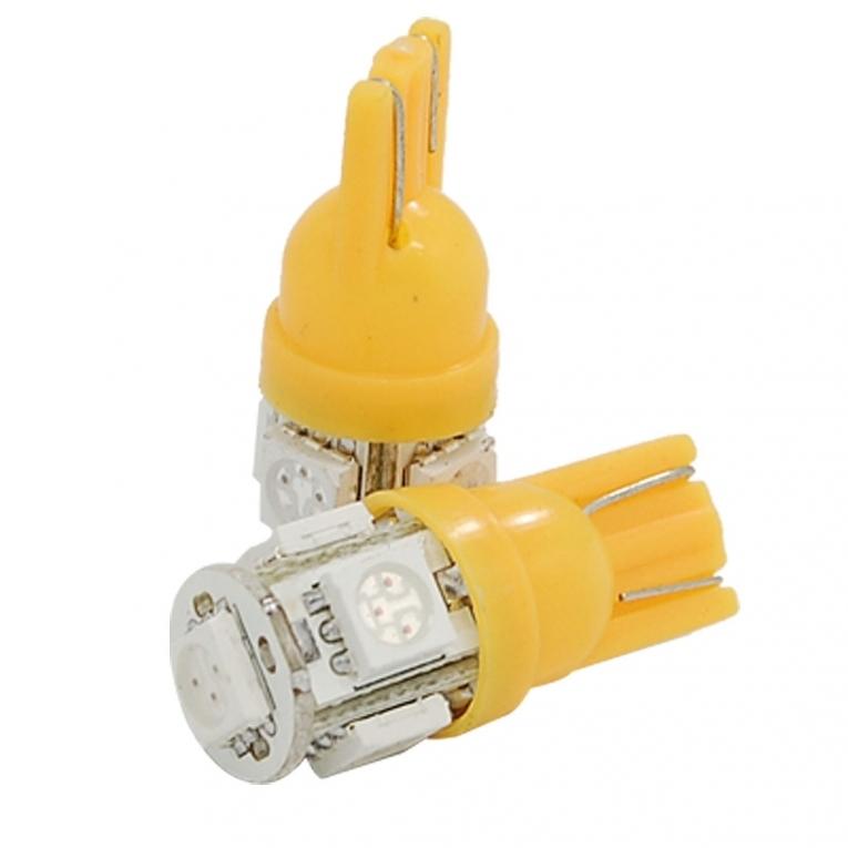 T10 Led 5 Smd Oranje 5050 12v Interieur Lamp Abc Led Nl