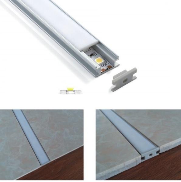 1 meter vloer beloopbaar led profiel aluminium